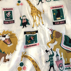 40s Vintage FRENCH Novelty CHILD Children Fabric